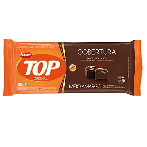 Barra de Chocolate Fracionado Top Meio Amargo 1,05kg - Harald