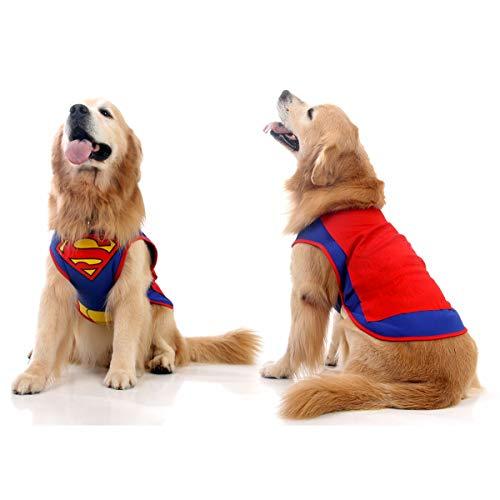 Sula Pet Colete Pet Colete Super Homem Luxo, Pequeno, Azul/Vermelho
