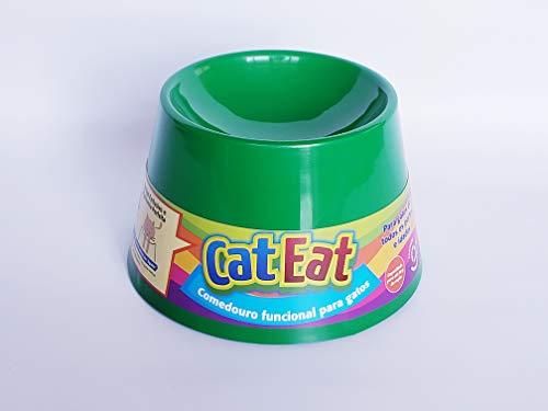 Pet Games Comedouro Funcional Gatos, Verde