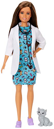 Boneca Barbie Profissões - Médica Vetérinaria Morena
