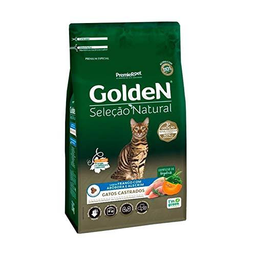 Ração Golden Seleção Natural para Gatos Adultos Castrados Sabor Abóbora 3kg