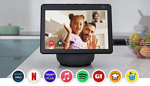 Novo Echo Show 10: Smart Display HD de 10,1' com movimento e Alexa - cor Preta