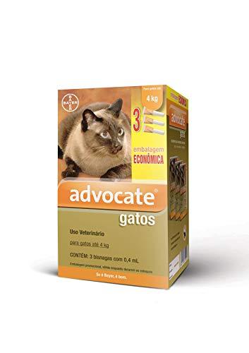 Antipulgas Advocate Bayer para Gatos de até 4kg - 3 Bisnagas de 0,4ml