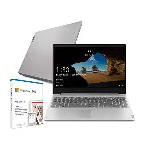 Notebook Lenovo ideapad S145 Celeron 4GB 128GB SSD + Microsoft 365 Personal W10 S 15.6' 81WT0003BR