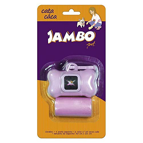 Kit Porta Sac 2 Rolos Basic Rosa Jambo para Cães