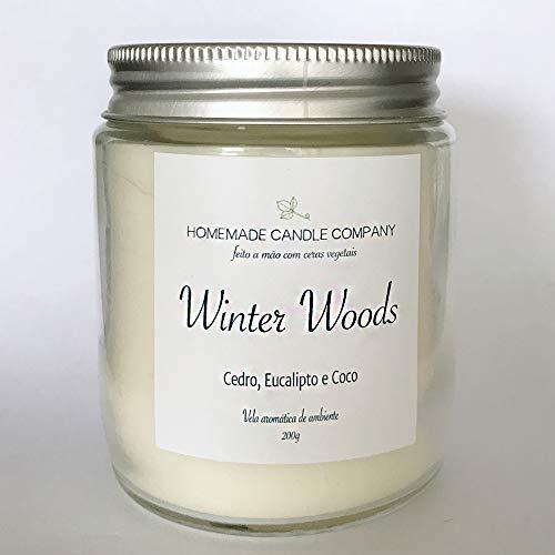 Homemade Candle Company| Vela Aromática Winter Woods | Cedro, Eucalipto e Coco | (cera vegetal de soja)