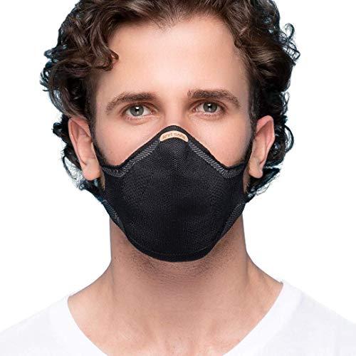 Máscara Reutilizável Knit Safe V-Block (PRETO, M)