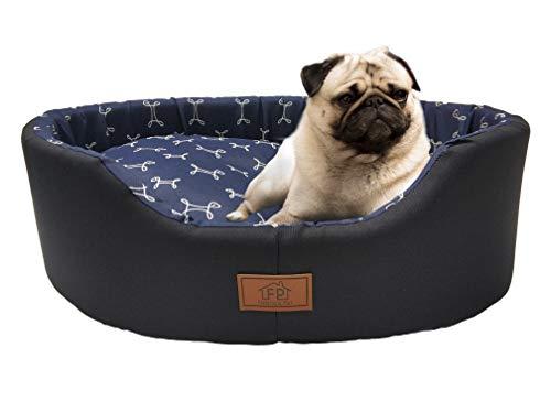 Cama Fábrica Pet para Cães, Pequeno, Azul, Europa Paris