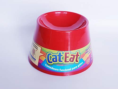 Pet Games Comedouro Funcional Gatos, Vermelho
