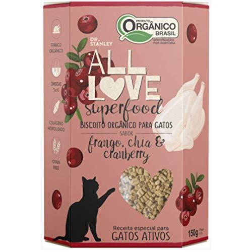 Biscoito Orgânico SuperFood Frango, Chia e Cranberry – 150grs.