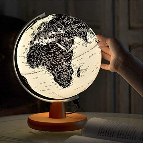 Globo iluminado 20 CM para crianças, Globo iluminado para criançasAdultos - Globo terrestre interativo para educação e diversão, para escola, crianças, família