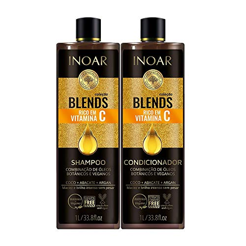 Kit Shampoo e Condicionador Blends Vitamina C 1L, INOAR