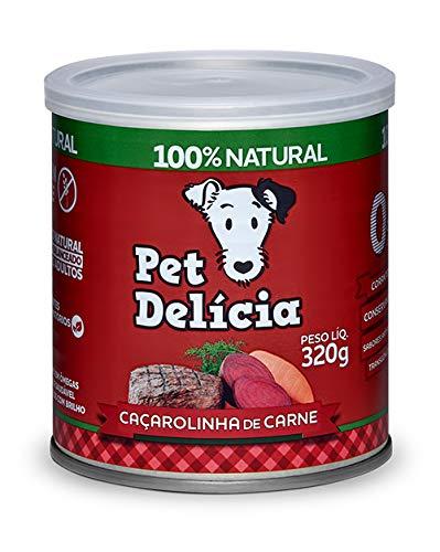 Pet Delícia Natural Grain-Free Caçarolinha de Carne 320g Pet Delícia Raça Adulto, Sabor Carne 320g