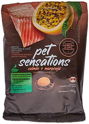Snacks Para Gato Pet Sensations Salmão e Maracuja Petitos 65 G