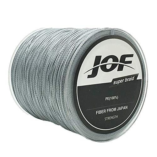 Linha Pesca Multifilamento JOF 1000 Metros 0.80mm 150L Cinza