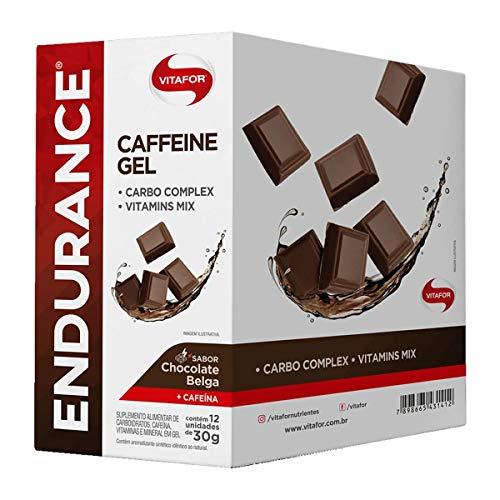 Endurance Caffeine Gel 12 Sachês de 30G Chocolate Belga, Vitafor