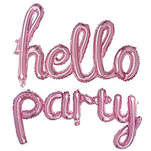 Conjunto de balões de festa Hello Party da Valicclud, balões decorativos para decoração de festa