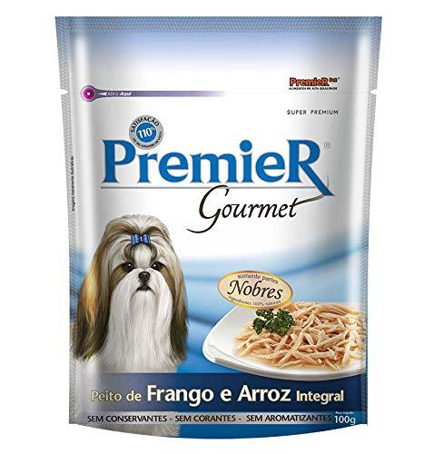 Ração Úmida Premier Gourmet para Cães Sabor Peito de Frango e Arroz Integral 100g Premier Pet Raça Adulto, Sabor Frango