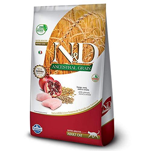 Ração N&D Ancestral Grain para Gatos Adultos Sabor Frango e Romã 1.5kg