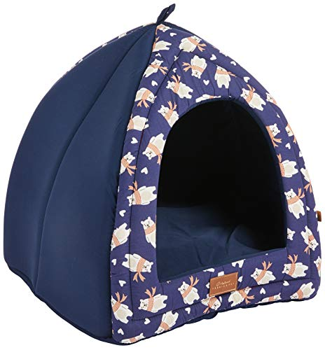 Fábrica Pet Baby Bear Cabana para Cães e Gatos, Azul, Único