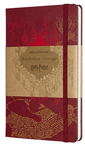 Caderno Moleskine, Edição Limitada Harry Potter, Mapa do Maroto, Pautado, Grande (13 x 21 cm)