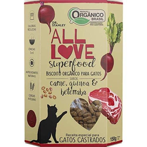 Petisco Orgânico All Love SuperFood para Gatos - Carne, Quinoa & Beterraba