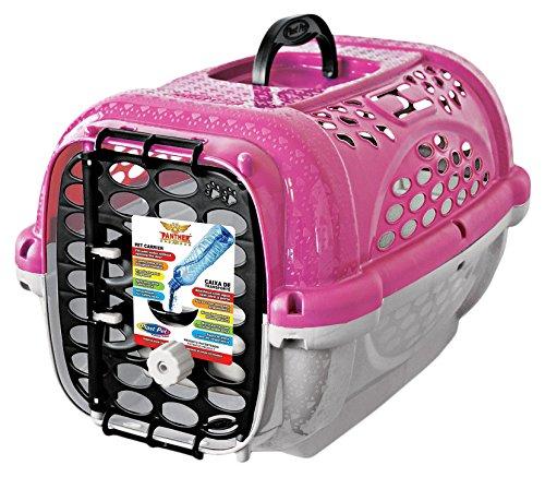 Caixa Transporte Panther Pop N.2 Rosa Plast Pet para Cães