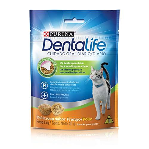 Nestlé Purina Dentalife Petisco para Gatos Adultos 40g Dentalife Para Abissínio Adulto, Sabor Cereais Pequeno