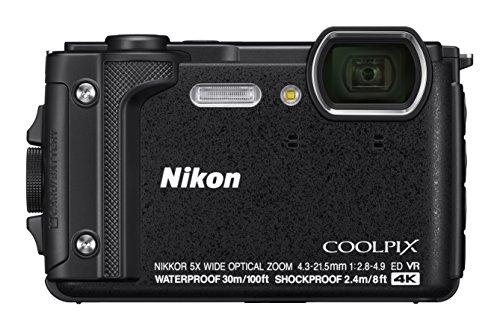 Cmera Nikon Coolpix W300 vídeo 4K/UHD 16mp 30m Wi-Fi GPS Bluetooth / Preta