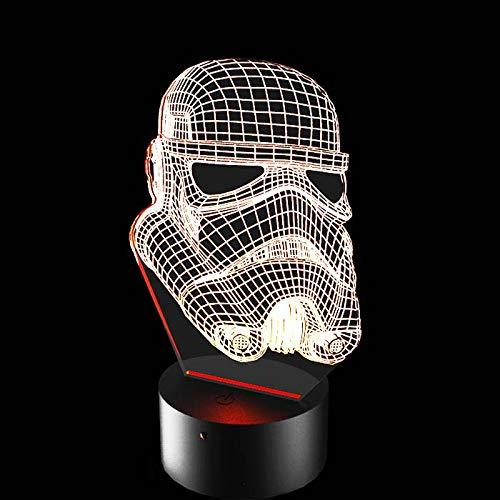 Luminária de Led - Máscara Stormtrooper Star Wars