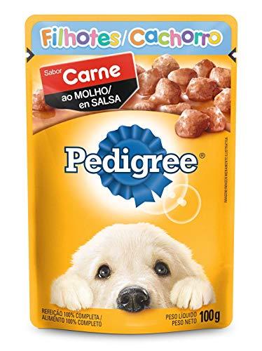 Ração Úmida Para Cachorros Pedigree Sachê Carne ao Molho Filhotes 100g
