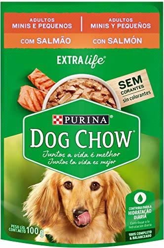 NESTLÉ PURINA DOG CHOW Ração Úmida para Cães Adultos Raças Pequenas Salmão ao Molho 100g