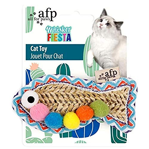 All For Paws 2831 Brinquedo Fish Whisker Fiesta para Gato, Multicor