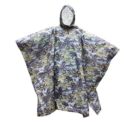 Capa de chuva com capuz FENICAL para chuva, poncho (camuflagem, verde)