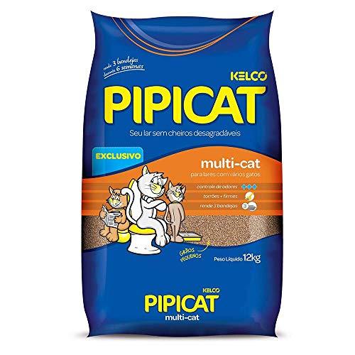 Pipicat 12 kg - Areia Higiênica Multicat para Gatos