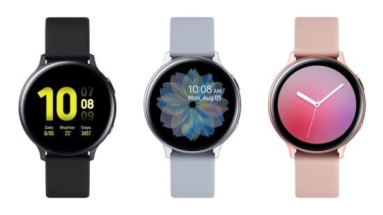 Cores do Samsung Galaxy Watch Active 2.