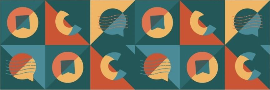 Banner horizontal com variações do logotipo.
