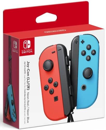 Caixa dos Nintendo Joy-Cons.