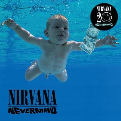 Capa do disco Nevermind 20th-anniversary edition.