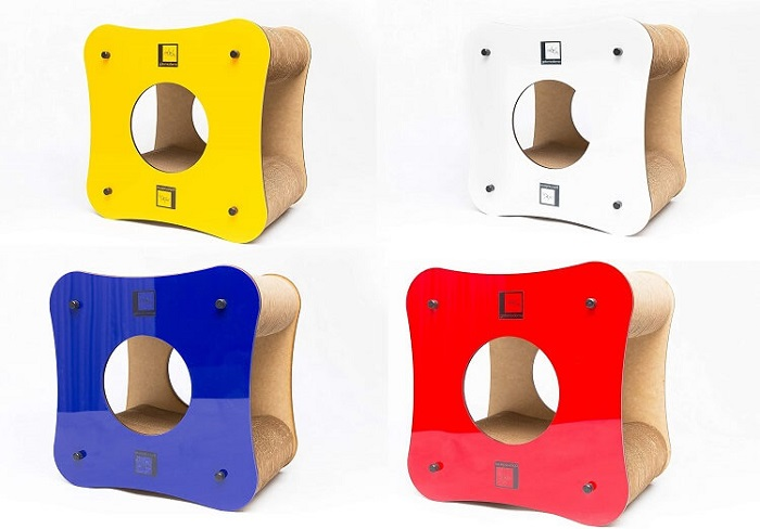 arranhador de papelão cube gatomoderno.