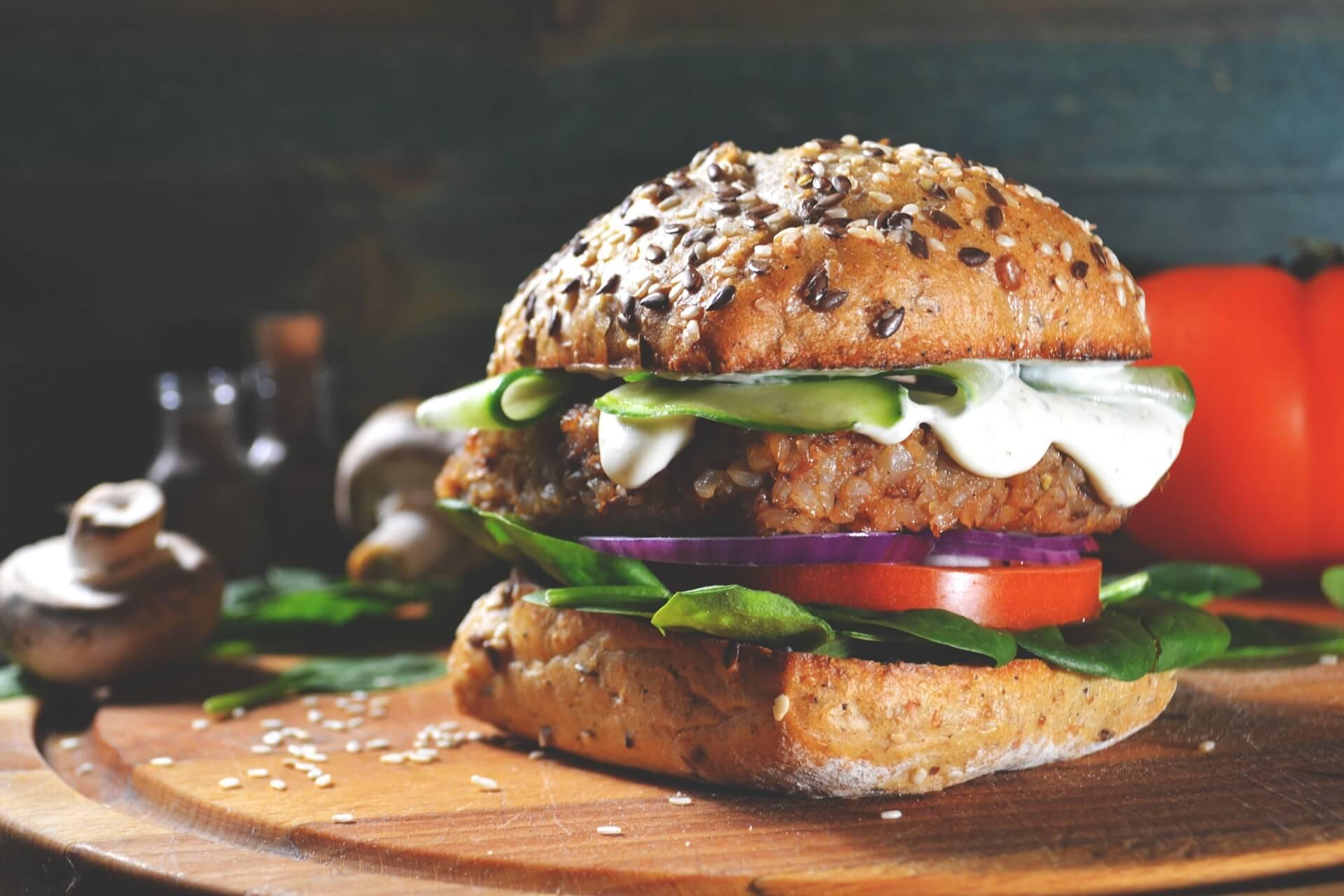 Hambúrguer Vegetariano/vegano.