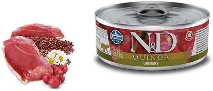 embalagem em lata do sachê para gatos N&D quinoa urinary.