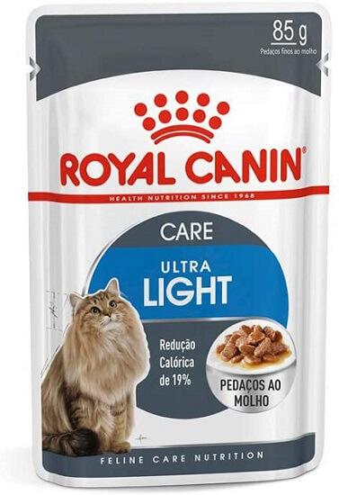 embalagem sachê royal canin gatos light.