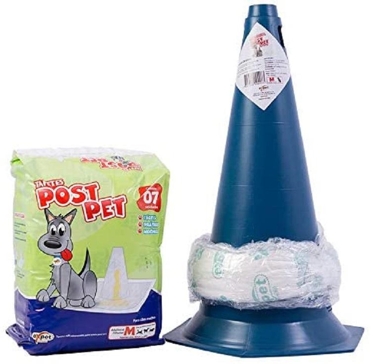 Post pet, um tapete higiênico em formato de cone.