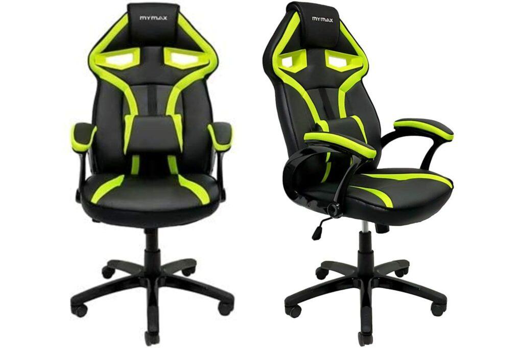 cadeira gamer amarela e preta