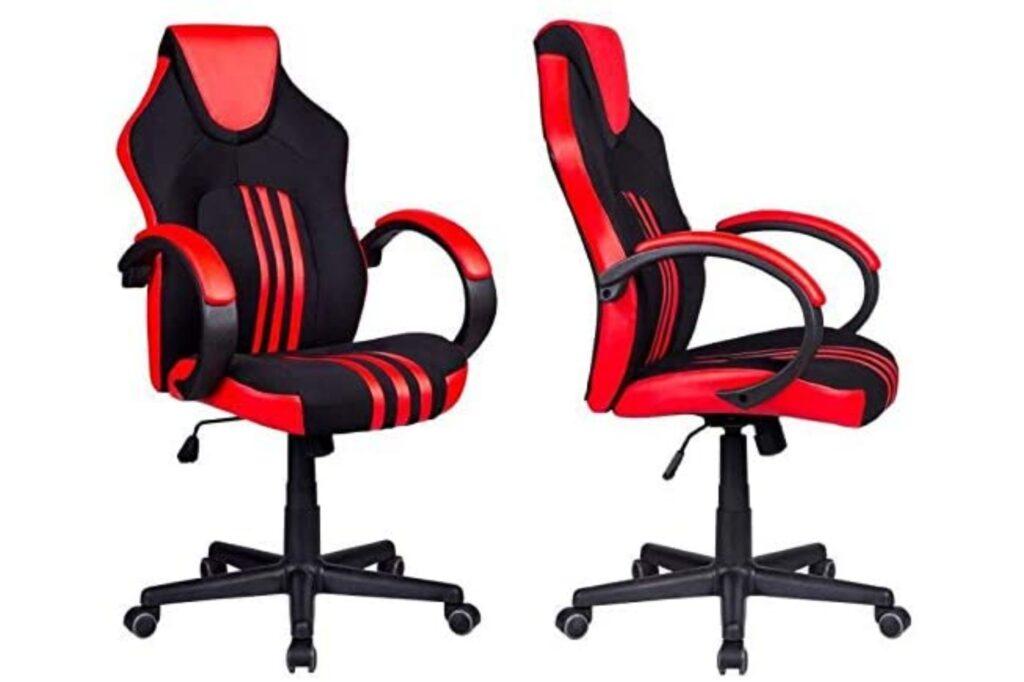 cadeira gamer inspirada em bancos de carros esportivos
