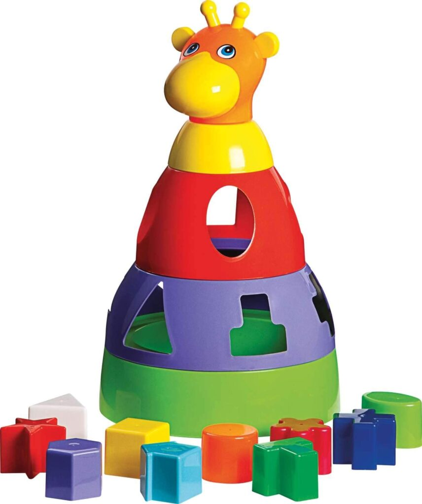 Brinquedos pedagógicos - girafa com blocos