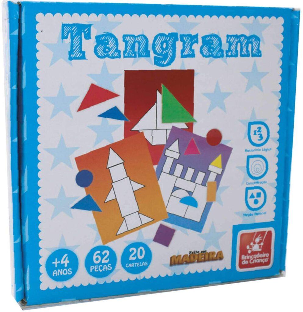 Brinquedos pedagógicos - tangram de madeira