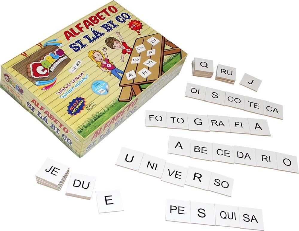 Brinquedos pedagógicos - alfabeto silábico