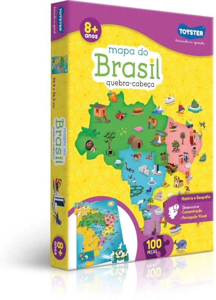 Brinquedos pedagógicos - mapa do brasil
